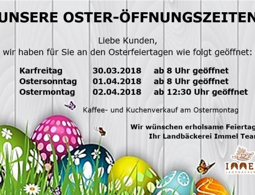 Ostern geöffnet
